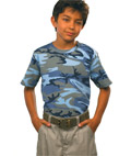 Code V Youth Camouflage Cotton T