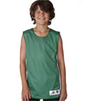 Youth Mesh/dazzle Reversible Poly Tank
