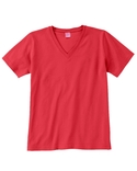 Women Combed Ringspun V Neck T Shirt