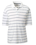 Men High Twist Cotton Tech Stripe Polo