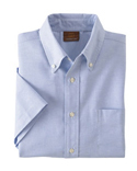 Men Short Sleeve Oxford Shirt With Stain Release