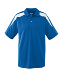 Wicking Textured Color Block Sport Shirt