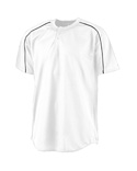 Men Wicking Two Button Baseball Jersey